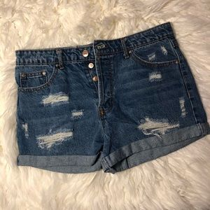 Forever 21 Distressed Denim Shorts